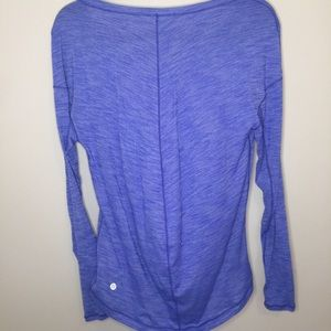 Lululemon Heathered Purple/Blue Long Sleeve Tee